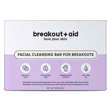 breakout+aid Čisticí mýdlo na problematickou pokožku s kyselinou salicylovou 100 g
