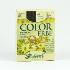 Color Erbe Barva na vlasy Hnědá 04, Dolce 135 ml