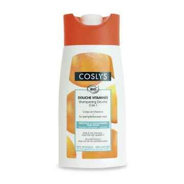 Coslys Sprchový šampon bez mýdla 2 v 1 na vlasy a tělo grep 250 ml