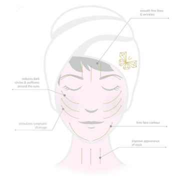 Crystallove Guasha, masážní pomůcka na obličej, Butterfly aventurine 1 ks