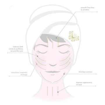 Crystallove Guasha, masážní pomůcka na obličej, clear quartz 1 ks