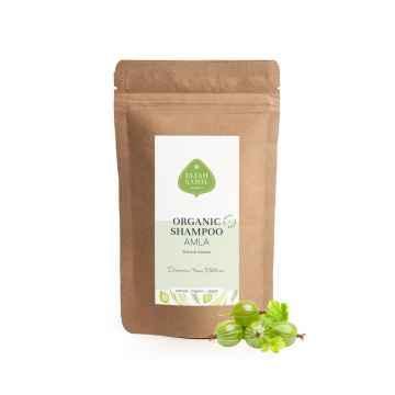 Eliah Sahil Organic Práškový šampon pro lesk a objem Amla a Shikakai 250 g, náplň