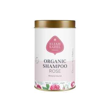 Eliah Sahil Organic Práškový šampon pro lesk a objem růže 100 g