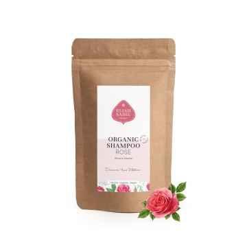 Eliah Sahil Organic Práškový šampon pro lesk a objem růže 250 g, náplň