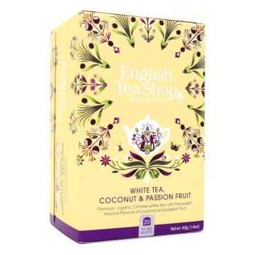 English Tea Shop Bílý čaj, kokos a passion fruit, bio  40 g, 20 ks