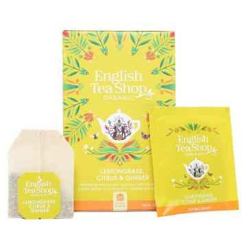 English Tea Shop Čaj citronová tráva, zázvor a citrusy, bio 30 g, 20 ks