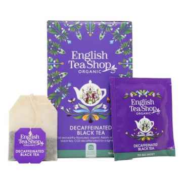 English Tea Shop Černý čaj English Breakfast bez kofeinu, bio 30 g, 20 ks