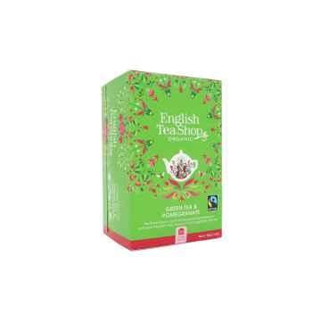 English Tea Shop Zelený čaj granátové jablko, bio 40 g, 20 ks