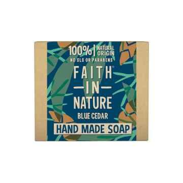 Faith in Nature Tuhé mýdlo modrý cedr, Faith for men 100 g