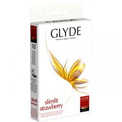 Glyde Kondomy Slimfit Strawberry 10 ks