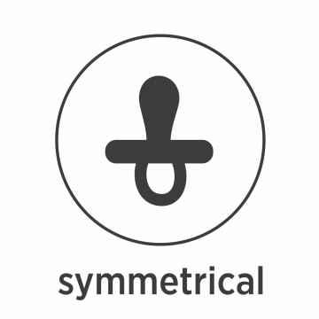 HEVEA Symetrický dudlík z přírodního kaučuku Classic 3 - 36 M