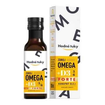 Hodné tuky Omega D3 FORTE 3 x 100 ml