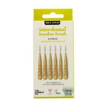 Humble Brush Bambusové mezizubní kartáčky velikost 4 (0,7 mm) 6 ks