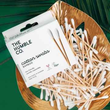 Humble Brush Cotton swabs bamboo, vatové tyčinky z biobavlny a bambusu 100 ks