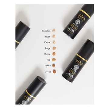 Inika Organic Tekutý make-up s kyselinou hyaluronovou, Cocoa 30 ml
