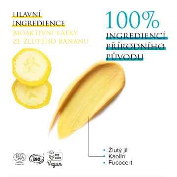 Kadalys MUSACLEAN Jemná čisticí BIO maska s jílem a žlutým banánem 75 ml