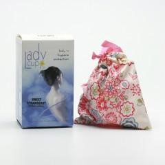 LadyCup Menstruační kalíšek L (větší), jahoda 1 ks