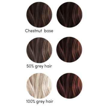 Les couleurs de Jeanne Barva na vlasy tmavě kaštanová 2 x 50 g