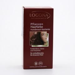 Logona Barva na vlasy, henna ořech-kaštan 100 g