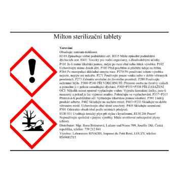 Milton Sterilizační tablety 10 ks, (minitablet)