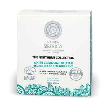 Natura Siberica Bílé sibiřské máslo pro čištění pleti, Severská kolekce 120 ml