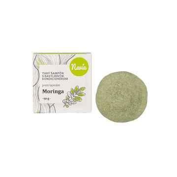 Kvitok Tuhý šampon s rostlinným kondicionérem, Moringa XXL 50 g