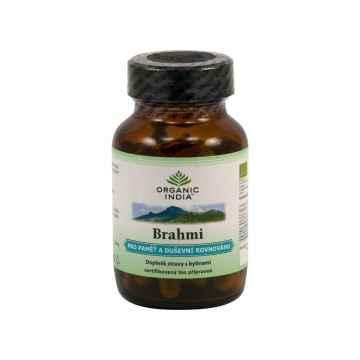 Organic India Brahmi, kapsle, bio 60 ks