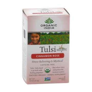 Organic India Čaj Tulsi Cinnamon Rose, bio 32,4 g, 25 ks