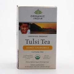 Organic India Čaj Tulsi Honey Chamomile, porcovaný, bio 30,6 g, 25 ks