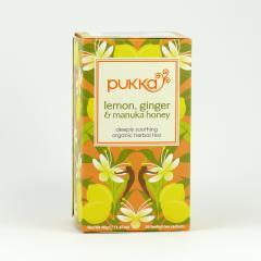 Pukka Čaj ayurvédský Lemon, Ginger and Manuka Honey, bio 40 g, 20 ks