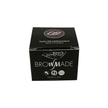 puroBIO cosmetics Browmade, pomáda na obočí 02 warm brown 4 ml