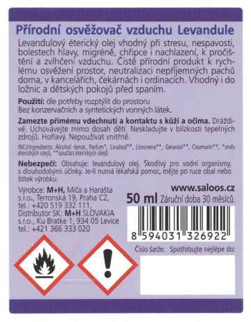 Saloos Natur Aroma Levandule 50 ml