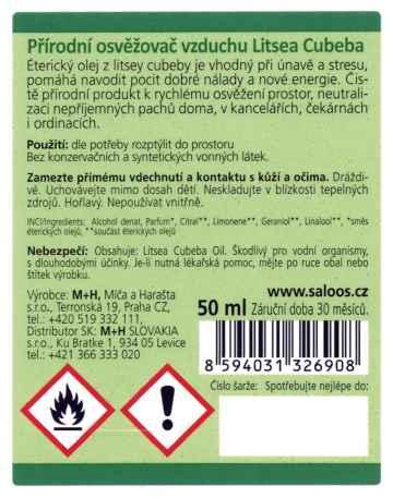 Saloos Osvěžovač vzduchu litsea cubeba, Natur Aroma 50 ml