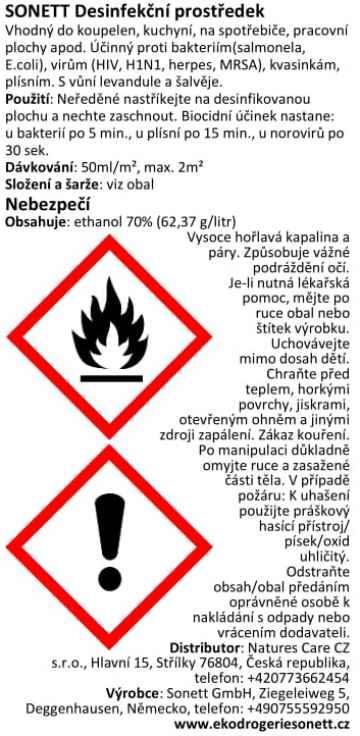 Sonett Dezinfekční prostředek, rozprašovač 100 ml