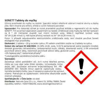 Sonett Tablety do myčky 25 ks, 500 g