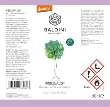 Taoasis Osvěžovač vzduchu Vůně lesa, Bio Demeter 50 ml