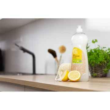 Tierra Verde Gel na nádobí BIO citron + Lufa oválná malá, multipack 1 l + 1 ks