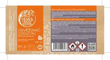 Tierra Verde Osvěžovač vzduchu pomeranč, bio 100 ml