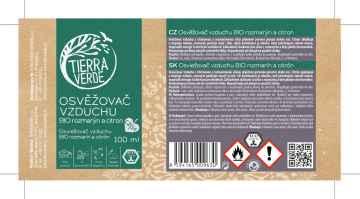 Tierra Verde Osvěžovač vzduchu rozmarýn a citron, bio 100 ml