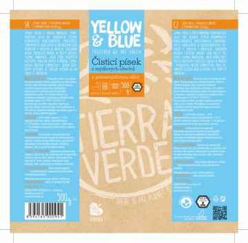 Yellow and Blue Čisticí písek z mýdlových ořechů 500 g