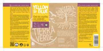 Yellow and Blue Gel do myčky na nádobí z mýdlových ořechů 1 l