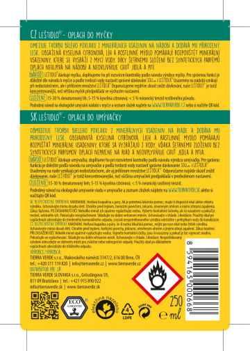 Yellow and Blue Leštidlo - Oplach do myčky nádobí 250 ml