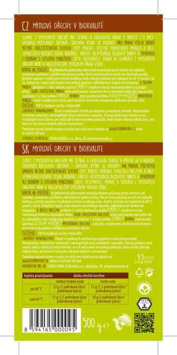 Yellow and Blue Mýdlové ořechy na praní v bio kvalitě 500 g