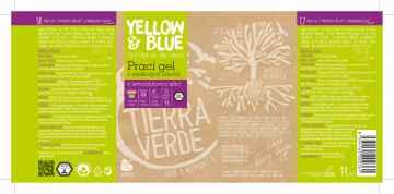 Yellow and Blue Prací gel z mýdlových ořechů levandule 1 l