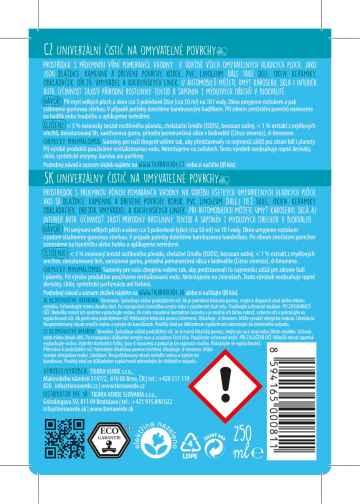 Yellow and Blue Univerzální čistič 250 ml